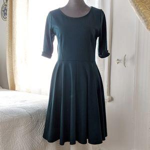 Black Swan - Deep green dress